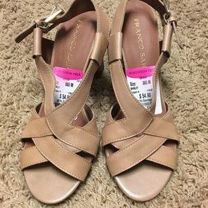 Tan Franco Sarto block heel sandal
